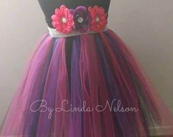 Purple, Hot Pink, & Black Tutu Dress