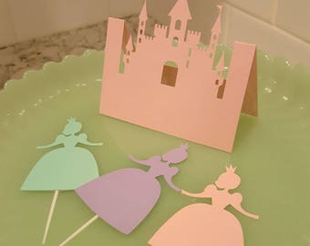 Castle Place Cards, Princess Menu Cards, Set of 12