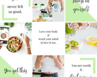 Instagram Captions - Social Media Graphics - Instagram Template - Blogger Template - Social Media Captions - Blog Branding - Health branding