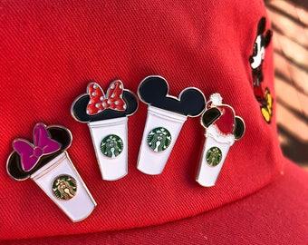 Mickey Starbucks Cup Enamel Pin,  Daisy Duck Starbucks, Minnie Mouse Starbucks, Christmas Starbucks, Disney Pins