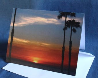 San Clemente Sunset (Note Card)