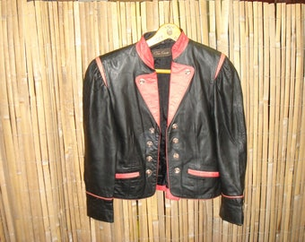 Lightweight leather jacket in the pirate look