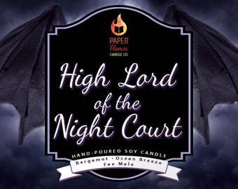 High Lord of the Night Court - Hard-poured Soy Wax Candle Inspired By The A Court of Thorns and Roses Series