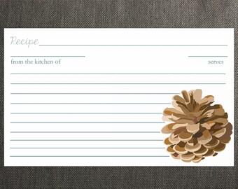 Pine Cone Recipe Cards