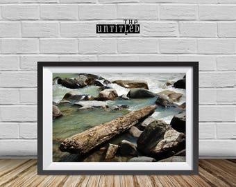 Mountains Print,  Stones Print,Nature photograph, Black and white photo,home art decor