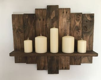 Rustic Shelf made from reclaimed pallets
