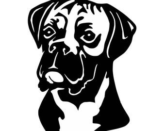 Free Boxer Dog Svg