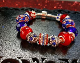 Patriotic Red White Blue Bracelet