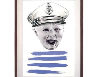 Hand Drawn Portrait Captain