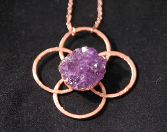 Amethyst with Copper Design