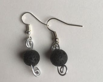 Lava Stone Curved earrings