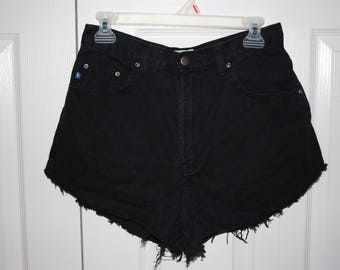 Vintage Black Denim Shorts