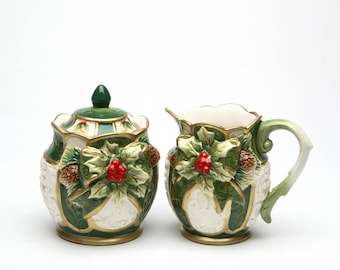 Holly Sugar and Creamer Set (10303)