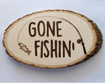 Fishing Woodburning