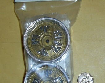 Set of 2-Piece Vintage 1994 Tamiya Mesh Wheels(1 Pair 4WD/FWD Touring/Rally Cars) SP-548