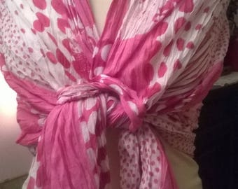 Pure printed crinkle cotton scarf