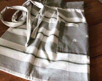 Vintage inspired half apron.