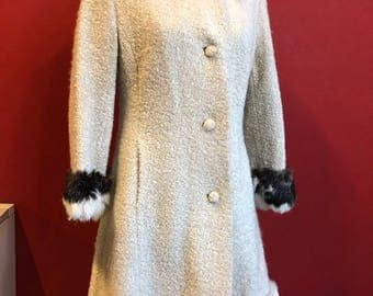 Super 50's Coat with real fur inserts