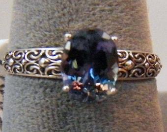 Antique Style Filigree Tanzanite Ring