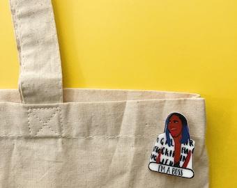 Cardi B Pin - I'm a Boss - Bodak Yellow - holiday gifts - pins - pop culture pins