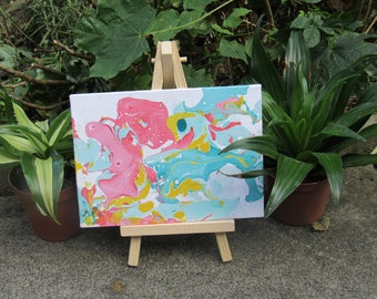 Original Marbled Canvas Painting