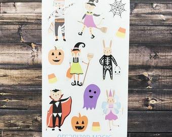 kid's Halloween stickers, halloween stickers, halloween party favors, halloween animal stickers