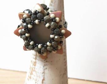 Grey Star Ring