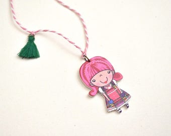Girl Toy Necklace, Kids Necklace, Gift for child, Girl Necklace, Small Gift, Children Jewelry, For daughter,Free Shipping,