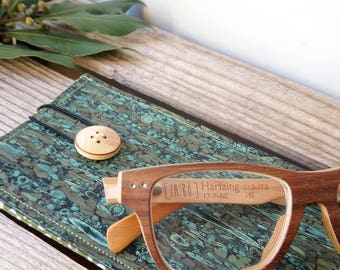 leather glasses case - vegan - Cork - cork - gift for her - gift for him - handmade - ecofriendly - made in France - ethical
