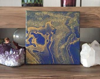 "Mural ""Lapis"" Spiritual art Dragon Treasures Wicca Pagan Witchcraft altar Decorations"