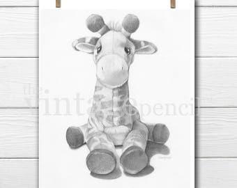 Giraffe Print, Safari Nursery Prints, Zoo Animal, Safari Nursery, Nursery Animal Print, Baby Giraffe, Giraffe Art, Giraffe Nursery, Giraffe