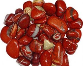 Brecciated Red Jasper Tumbled Stone | Red Stone | Healing Stone | Root Chakra | Metaphysical | Altar Stone | Root Chakra | Jasper Stone