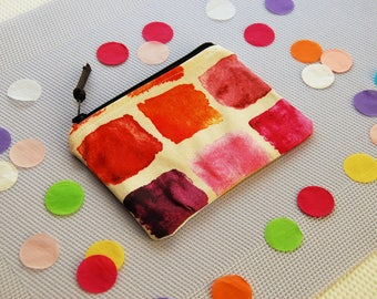 Colorful cotton zipper coin purse, zipper wallet, everyday use, small wallet