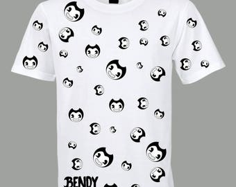 Free shipping Bendy and the ink machine t shirt inspired