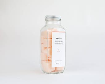 Peach Exfoliating Sugar Cubes