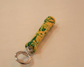 Green and Yellow acrylic bottle opener