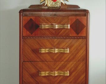 Art Deco Waterfall Dresser Chest of Drawers