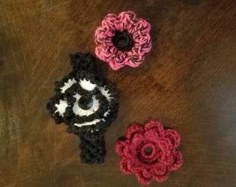 Baby Crochet Head Band & Flowers