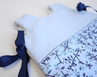 Blue flowers baby sleeping bag