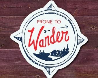 wander laptop sticker