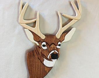 Whitetail Deer Intarsia Carving