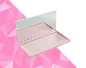 Magnetic Palette M Pink with Mirror - Magnetic Makeup Palette - Makeup Organize - Fits 18 Eyeshadows*