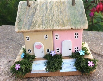 Handmade Miniature Cottages.  Collectable gift.  Unique.  One of a kind. Wooden.
