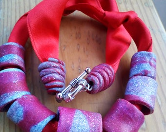 nacklace of polymer clay
