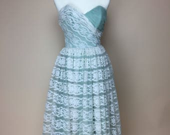 1950's Cotillion Original lace prom dress