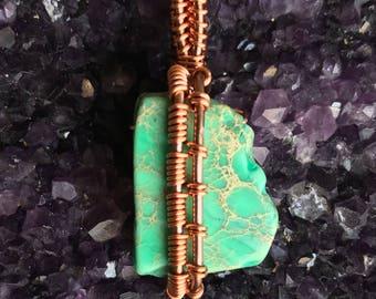 Dyed Imperial Jasper Pendant