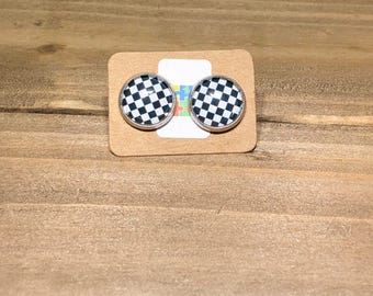 Checkered Stainless Steel Studs