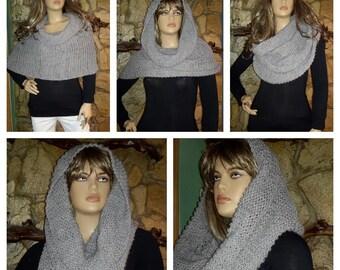 Knitted shawl / poncho
