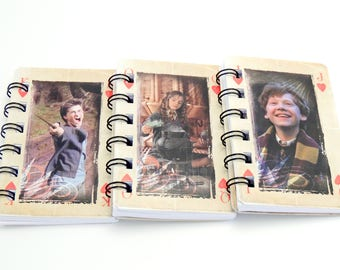 10 cuadernos de Harry Potter - Ideal para cumpleaños de Harry Potter y los bolsos de fiesta - novia de Harry Potter - de Upcycled Harry Potter tarjetas