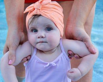 Peach Swim Turban